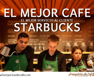 buen cafeafé y servicio al cliente en Starbucks