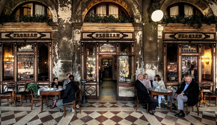 Cafeteria Florian, una de las cafeterías más impresionantes de Italia