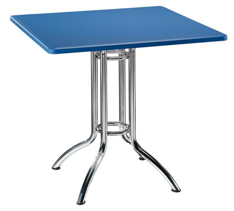 mesa para cafeteria con patas cromadas