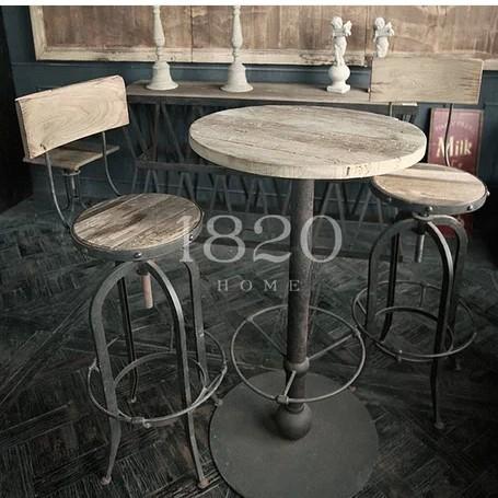 mesa tipo bar alta para cafeterias