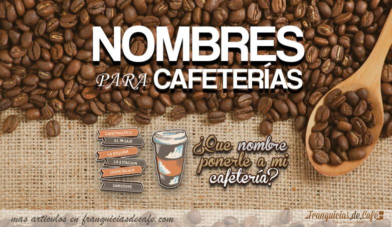 Ideas de nombres y logos para tu cafeter as crea tu for Nombres de garajes