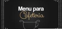 Menú para Cafeteria