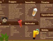ejemplo 3 menu para tu cafe y bebidas
