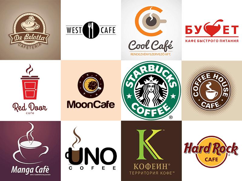 logos y nombres de cafeterias populares