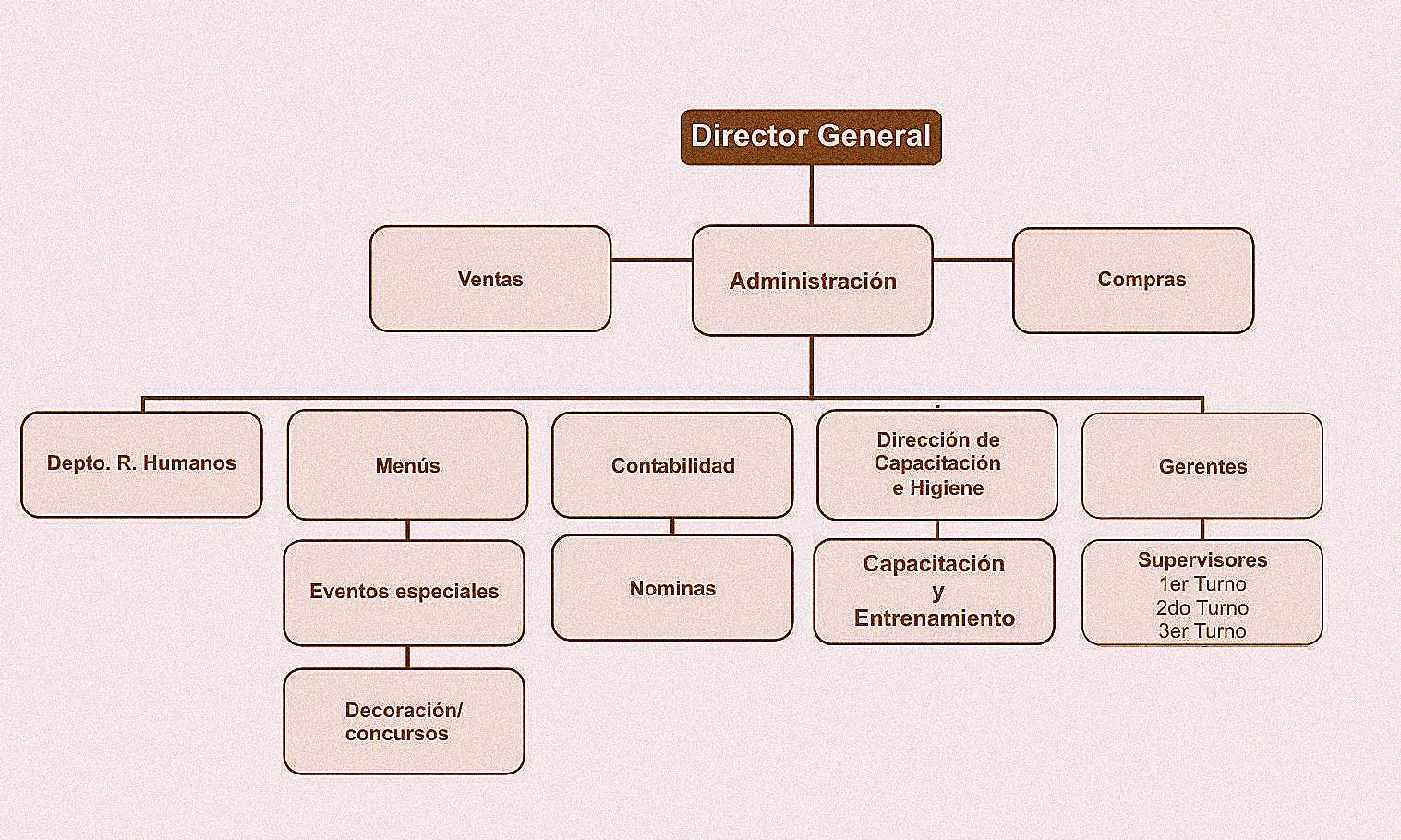 Que es y como hacer el organigrama de una cafeter a for Areas de cocina y sus funciones