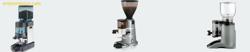 Muestra de molinos de cafe para cafeterias