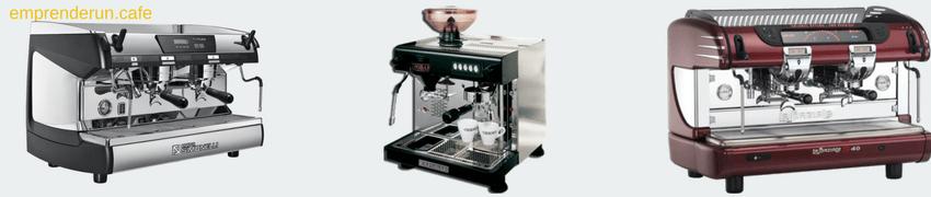Muestra de maquinas de cafe profesionales para cafeterias