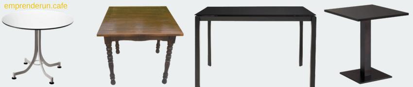 muestra de varias mesas para cafeteria