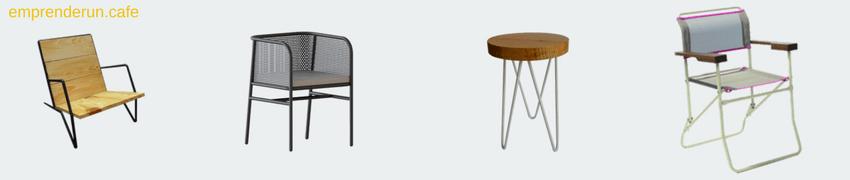 muestra de varias sillas para el exterior de tu cafeteria